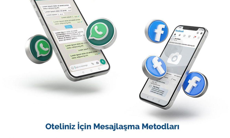 Oteller için Whatsapp ve Facebook